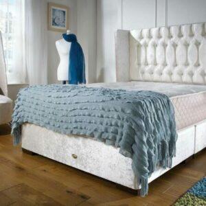 Divan Wingback Bed-Frame Crush Ivory 15