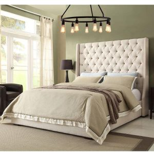 64 inch high Sleigh Bed Chester Wingback