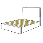 Slats Base with headboard Only