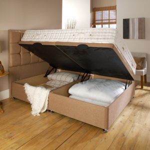 Side Opening Ottoman Bed Optional Mattress 22