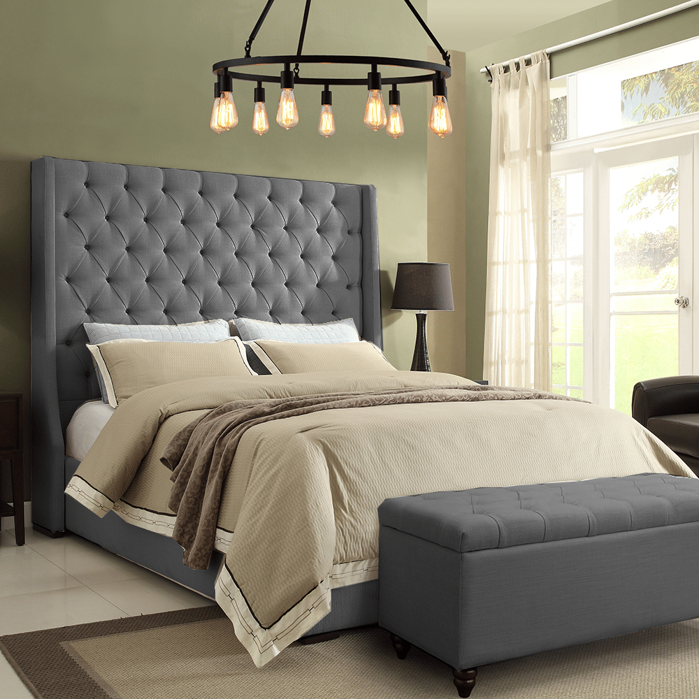 Double Super King OXFORD Kendal Chesterfield Sleigh Bed Frame Single King
