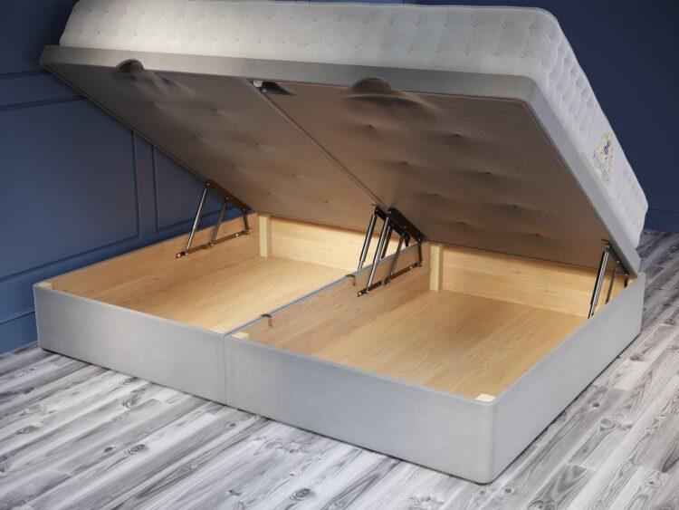 Ottoman Base 33cm Standard Bass plush velvet grey