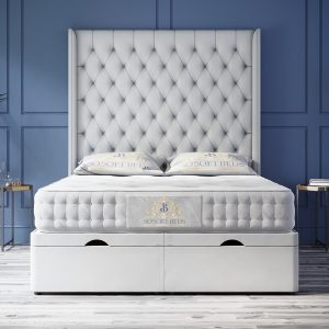 End Opening Ottoman Bed Optional Mattress 4