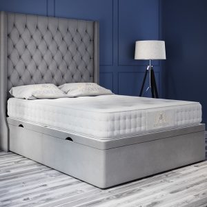 Oxford bed Plush Velvet Grey