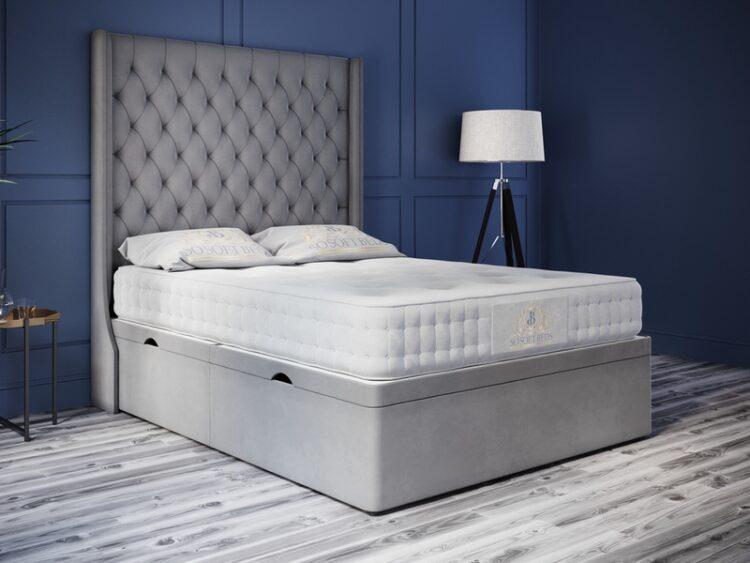 Oxford bed Plush Velvet Grey