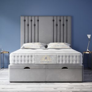 Giovani Ottoman Bed Panel Headboard With Optional Mattress 7
