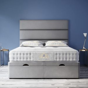 York Ottoman Bed Panel Headboard With Optional Mattress 28