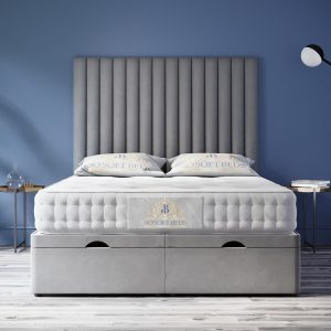 Soneros Ottoman Bed Panel Headboard With Optional Mattress 10