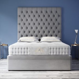 "Ottoman Storage Bed 70"",60"" or 54"" Tall Chesterfield with optional Mattress 8"