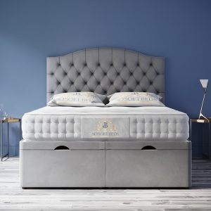Majestic Chesterfield Ottoman Bed Headboard With Optional Mattress 10
