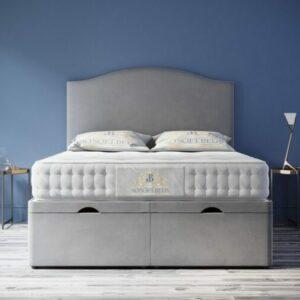 Majestic Ottoman Bed Art Deco Headboard With Optional Mattress 1