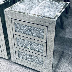 Crushed Side Cabinet for ottoman storage bed