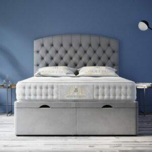 Safina Chesterfield Ottoman Bed Headboard With Optional Mattress 1